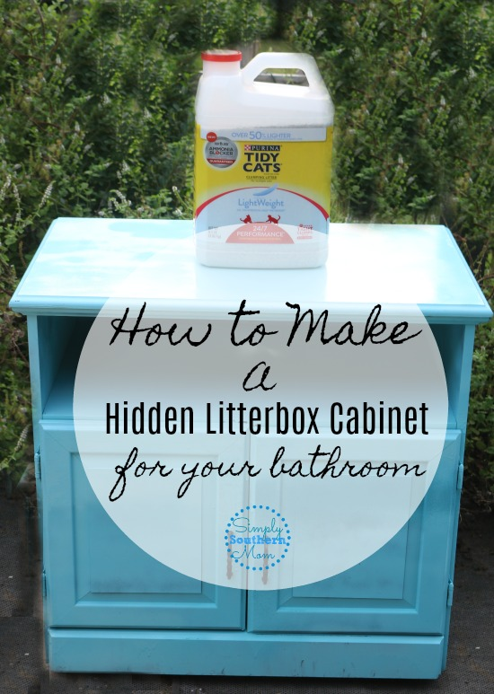 ... Litter Box Enclosure DIY. This Is A Partnered Post With Tidy Cats, But  All Opinions Are My Own.