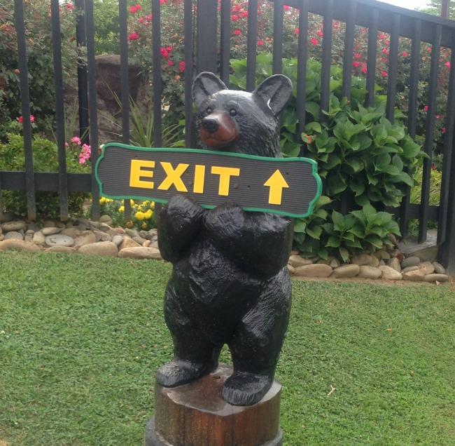 Cute Bears showed us the way around the resort.