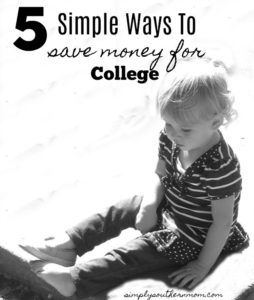 5 Simple Ways to Save For College
