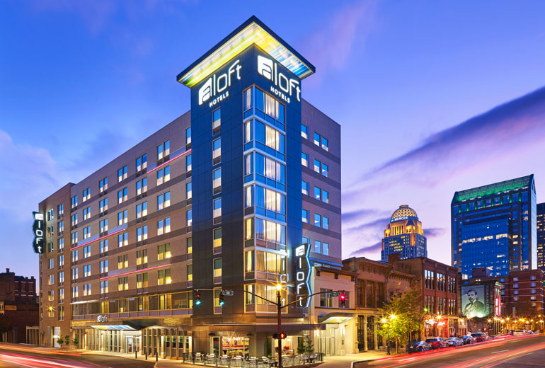 Photo Courtesy of the Aloft Downtown Louisville website.