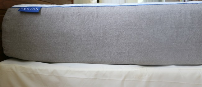 Close up of Side of Nectar Mattress