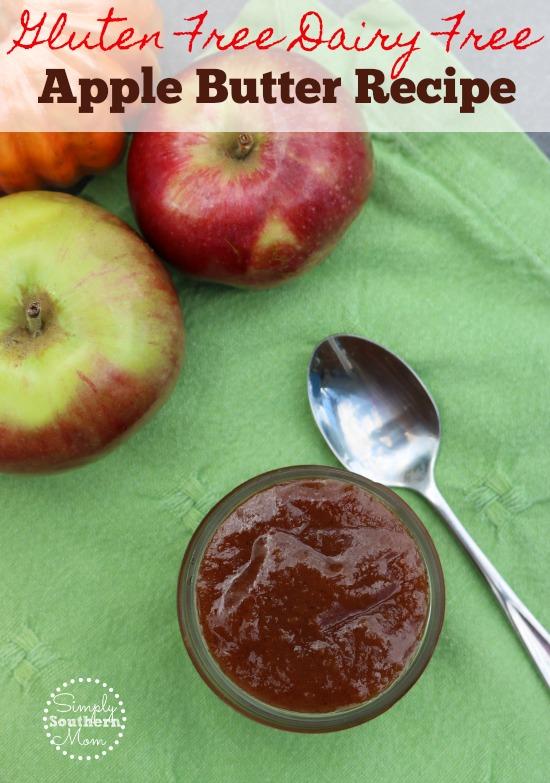 Gluten Free Dairy Free Apple Butter Recipe