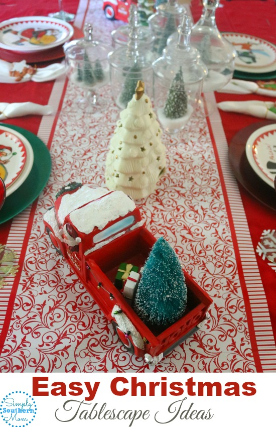 Easy Christmas Tablescape Ideas
