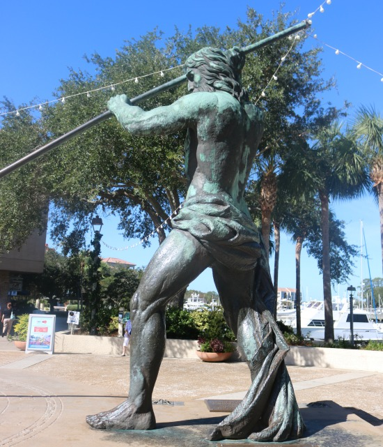 Neptune Statue at Shelter Cove Harbour.