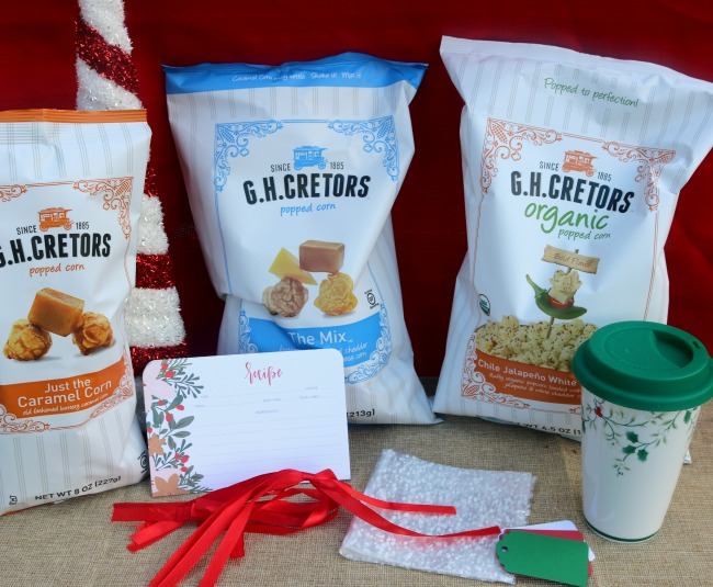 Popcorn is a great addition to gift baskets!