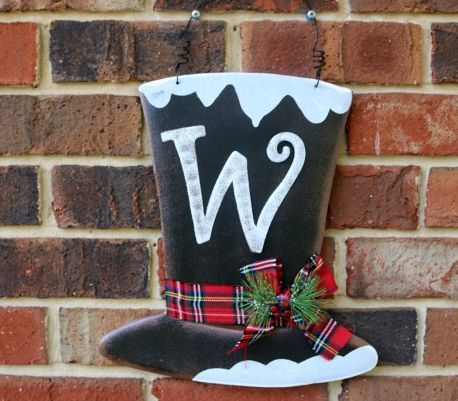 w christmas tophat